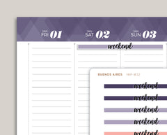 CLASSIC Highlight Weekend Stickers for 2021 inkWELL Press Planners IWP-W32
