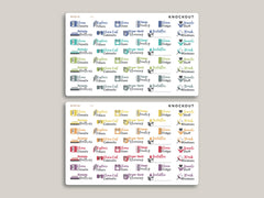 Quarterly Chores Sampler Planner Stickers for MakseLife Planner R26