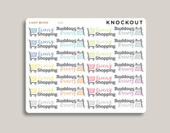 Grocery Shopping Icon Planner Stickers for MakseLife Planner U26