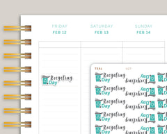 Recycling Day Icon Planner Sticker for MakseLife Planner U27