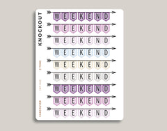 CLASSIC Weekend Banner Stickers for 2021 inkWELL Press Planners IWP-N65