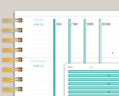 Full Length Horizontal Washi Stickers for Makse Life Planners R27