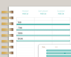 Full Length Vertical Washi Stickers for Makse Life Planners R29