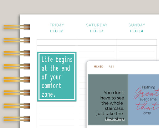 Quote Full Box Planner Stickers v2 for 2021 Makse Life Planners R34