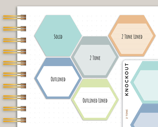 Goal Hexagon with Blank Header Planner Stickers for Makse Life Planners R40
