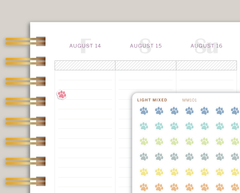 Mini Paw Icon Stickers for Makse Life Planner MM101