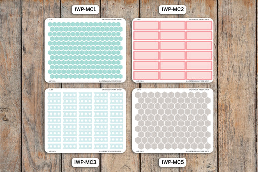 Monochrome Quarter Sheet Bundle IWP-CMQ1