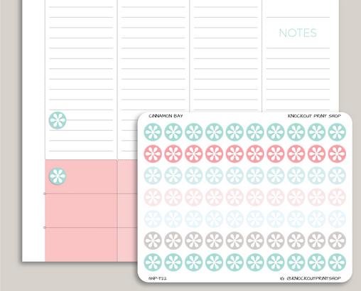 Asterisk Circle Planner Stickers for 2019 inkWELL Press IWP-T22