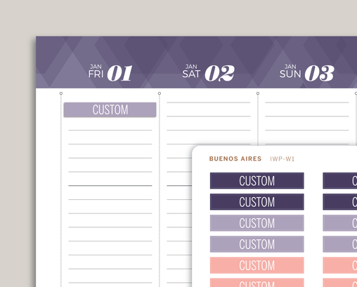 CUSTOM Header Stickers for 2021 CLASSIC inkWELL Press Planners IWP-W1CUSTOM
