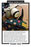 Camera Strap in Cats on Green
