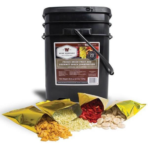 120 Servings of Wise Emergency Survival Freeze Dried Fruit Food Storage - Free Shipping - Readiness Deals Inc