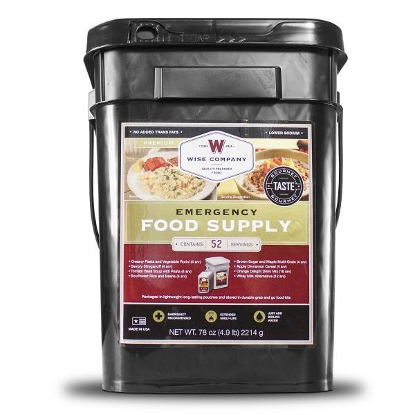 52 Servings of Wise Freeze Dried Emergency Food and Drink Storage -Free Shipping - Readiness Deals Inc