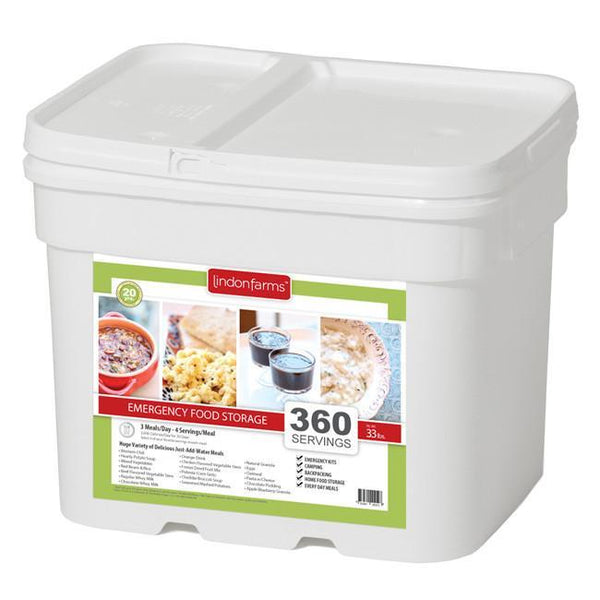 Lindon Farms 1 Month Emergency Food Storage Kit - 360 Servings - Readiness Deals Inc