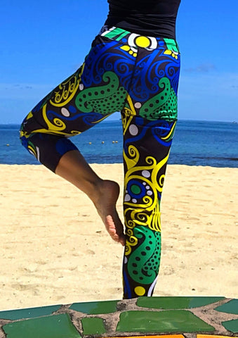 LUANA HANA LEGGINGS IN GREEN