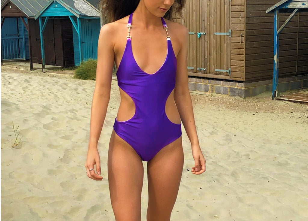 Melia Reversible Purple Monokini