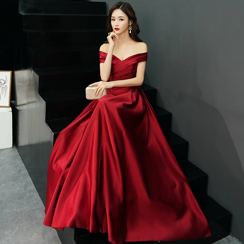 Backless prom dress satin party dress red evening dress homecoming dress the new homecoming dress  a-line homecoming dress