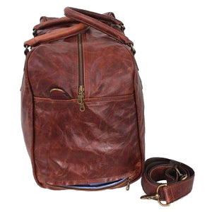 Overnight Travel Luggage leather bag - kingkong-leather