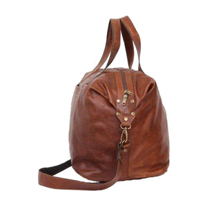 Weekend traveller Overnight leather bag - kingkong-leather