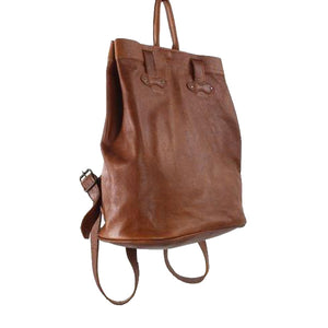 Two-in-one backpack tote shopper shoulder leather bag - kingkong-leather