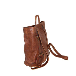 Two-in-one backpack tote shopper shoulder leather bag