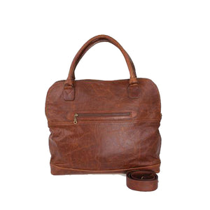 Corporate leather tote bag
