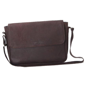 Simple 15 inch trendy messenger notebook bag - kingkong-leather