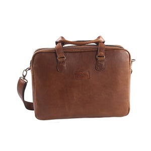 Hybrid 15 Inch Crossbody Notebook Leather Bag