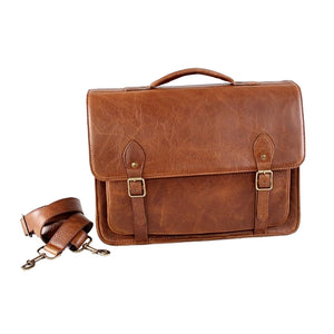 15 Inch Classic Satchel Notebook - kingkong-leather