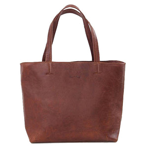 Roomy Tote Shopper Leather Handbag
