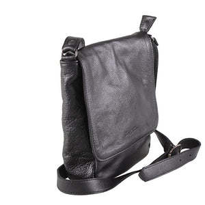 8-inch messenger sling leather bag - kingkong-leather