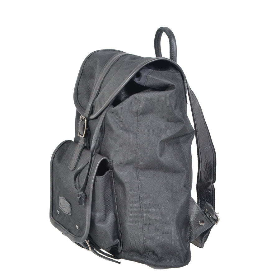 Classic Campus Canvas and Leather Backpack