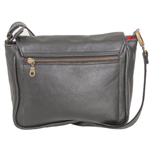 Sling shoulder satchel leather bag