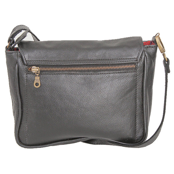 Sling shoulder satchel leather bag - kingkong-leather