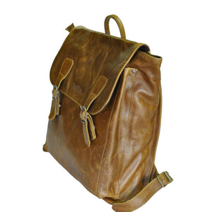 15.6 inch satchel imac laptop shoulder leather backpack bag - kingkong-leather