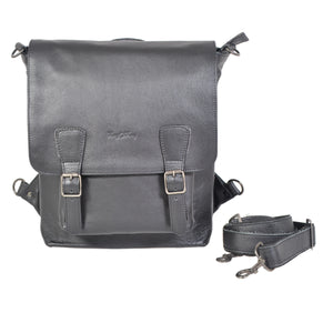 13 Inch Leather Satchel Sling Backpack - kingkong-leather