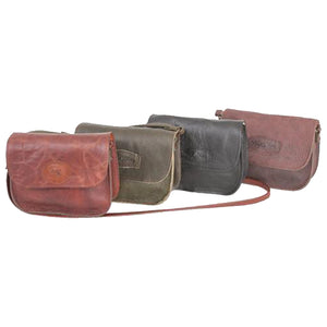 Bold leather side companion sling bag
