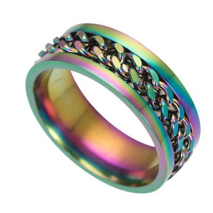 (50% OFF)Titanium Steel Rotatable Chain Ring