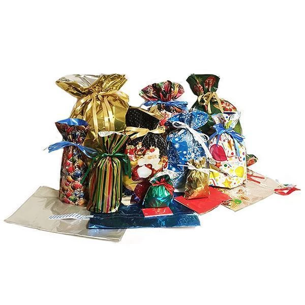 (50% OFF AND BUY 2 FREE SHIPPIN!) Drawstring Holiday Gift Bags(15 Sets)