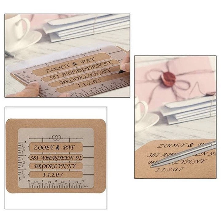 4pcs 4 Style Envelope Addressing Guide Stencil