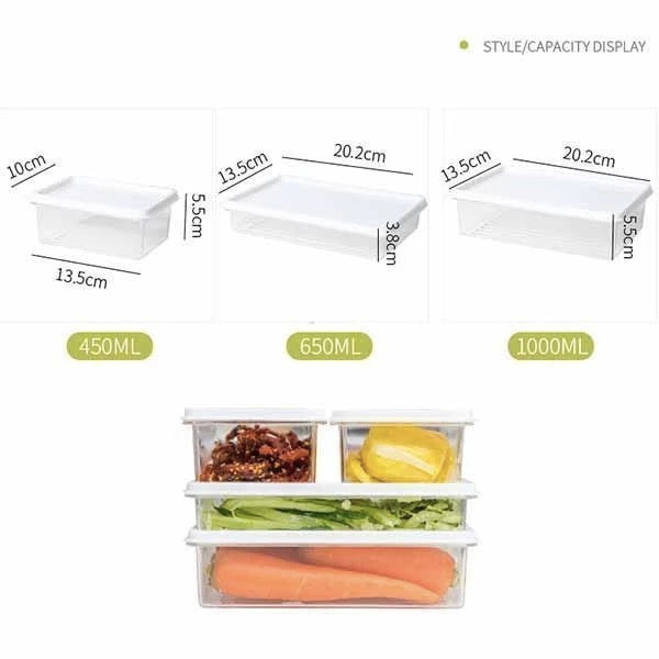 Refrigerator storage box(2PCS)