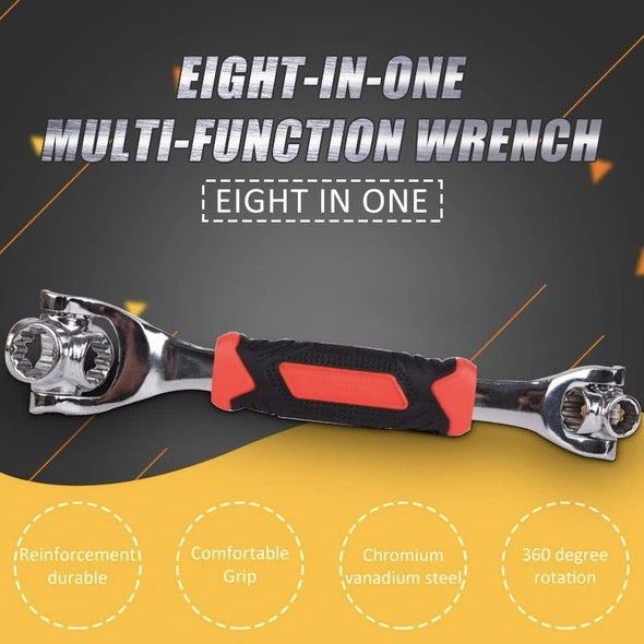 Eight-in-one multi-function wrench
