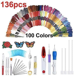 Rainbow Color Embroidery Threading Tool