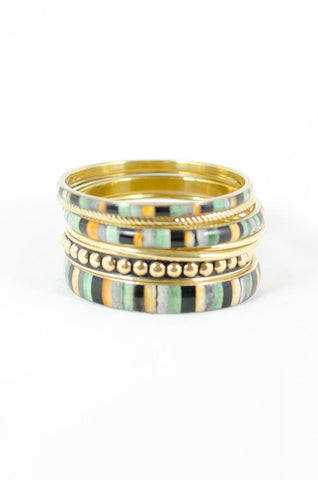 Seafoam Green Tiered Bangles