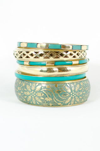 Turquoise Tiered Bangles