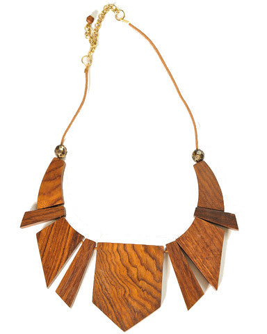 Tribal Wooden Necklace
