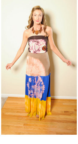 Sahara Desert Tie-dye Dress