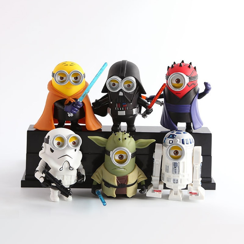 Minions Cosplay Star Wars Action Figures(6Pcs) - Urbantoys6