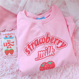 Kawaii Strawberry Milk Sweatshirt