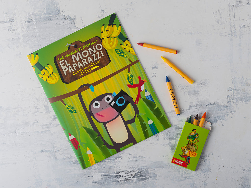 The Paparazzi Monkey Coloring Book for Kids