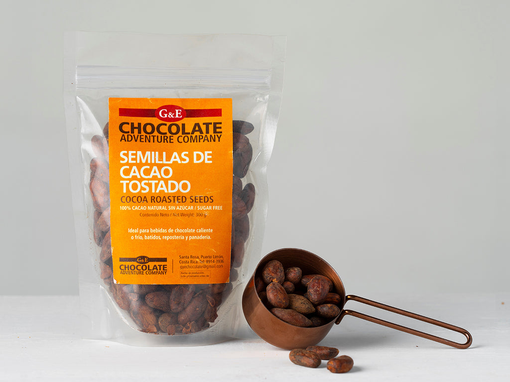 Buy Sugar Free Roasted Cacao Beans from G&E Chocolate Adventure Company available at Local Keeps from Costa Rica